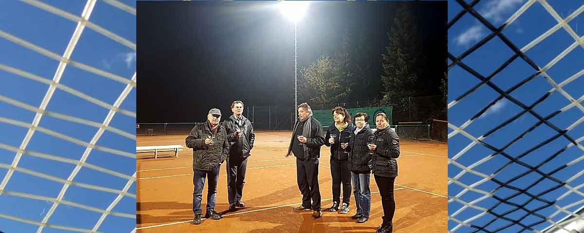 Sportverein Tennis Blog Bild neue LED-Flutlichtanlage